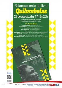 Cartaz - Relançamento do livro Quilombolas