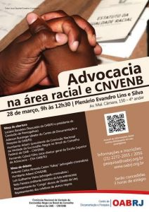 Cartaz do Evento Advocacia na area Racial