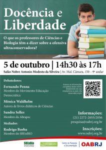 cartaz_Pesquisa - Docência e liberdade