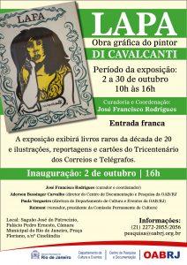 cartaz_Pesquisa - Lapa - Obra gráfica do pintor DI CAVALCANTI